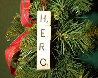 Hero Scrabble Ornament 7420