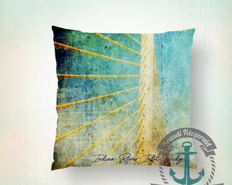 Delaware Pillow | Indian River Inlet Bridge Home Decor | Indoor or Outdoor Available