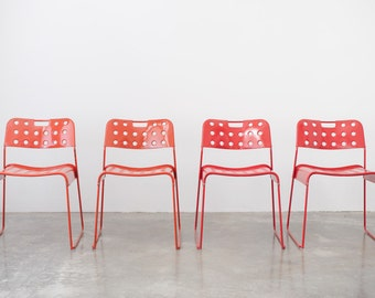 4 Mid Century Italian Modern Omstack Chairs - Rodney Kinsman