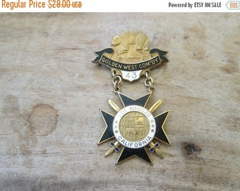 Vintage Knights Templar Pin ~  Pre Prohibition Era Memorabilia, American History Teacher Gift Ideas, Present for Dad or Grandparents