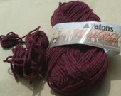 Plum Heather Patons Classic Wool partial skein