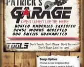 "Custom Garage Sign // Metal Sign // 12""x16"""