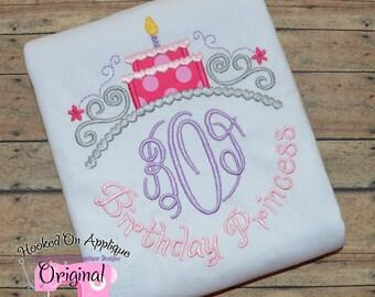 Monogram Birthday Princess Shirt - Girl's shirt - -Birthday shirt -Disney Vacation Shirt - Disney birthday party shirt