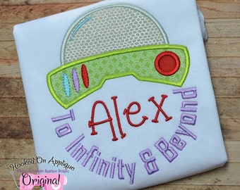 To infinity and beyond - Boy's monogram shirt - Boy's Toy Story Birthday shirt - Birthday Themed birthday party - Toy Story Party - Buzz