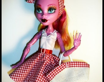"""Monster 17"""" Doll Outfit  - Pret-a-porter - Picnic Outfit"""