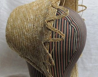 Fancy Straw Plait Bonnet - Civil War Era -  by Anna Worden Bauersmith
