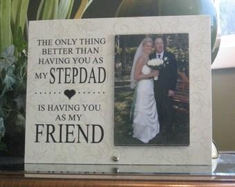 STEPFATHER Wedding Gift, step father wedding gift, stepdad wedding frame, step dad wedding gift,  stepfather wedding frame, 4 x 6 photo