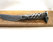 Railroad Spike Knife with punisher skull handle
