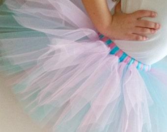 Aqua Pink Tutu | Pink Tutu | Aqua Tutu | 1st Birthday Tutu | Pink and Blue Tutu | Pink and Aqua | Shower Gift | Baby Toddler Tutu | Baby