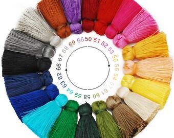 20PCS 3cm Handmade silky tassel for jewelry making 100559