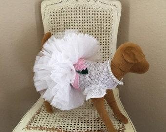 Southern Charm Dog Dress, Baby Pink