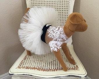 Coup de Foudre Dog Dress, Ivory