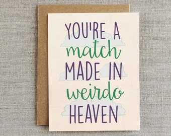 Funny Wedding Shower Card, Funny Engagement Card, Funny Anniversary Card, Card for Couple, Funny Marriage Card, Funny Relationship Card