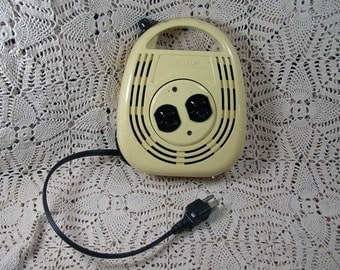 Vintage Electric Cord Winder 16 ft AUTOREEL With 2 Plug Ins Industrial