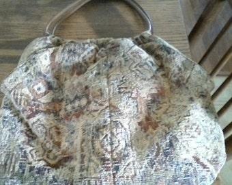 Vintage Quilt Hobo International handbag, Made in Columbia