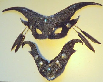 Satyr Witch  mask & collar