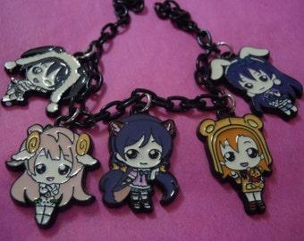 Love Live Bracelet, Anime Bracelet, Love Live Charm Bracelet, Anime Accessories