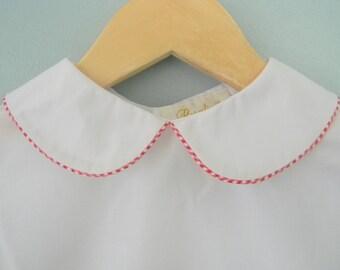 50% OFF Girl White Peter Pan Collar Blouse Shirt