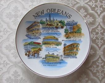 Vintage New Orleans Souvenir Plate