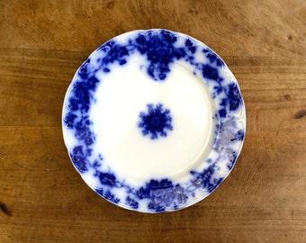 Antique Flow Blue transferware plate