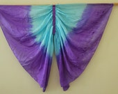 Not so Perfect 4 - Rainbow Butterfly Wings Costume, Pure Silk Wings, Fairy Wings, Waldorf Dress Up Wings - Rainbow