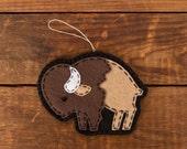 Wool Felt Large Buffalo Hanger/Ornament