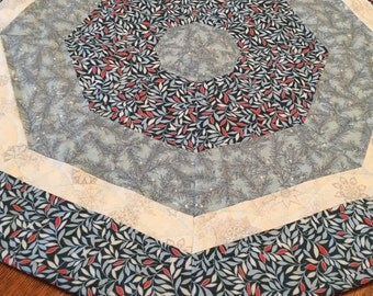 Table Topper, Quilted Table Topper, Handmade Table Topper, Batik Table Topper, Octagonal Table Topper, Quilted Tablecloth