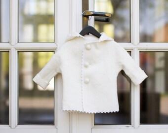 Felt coat for spring | wool coat | kids coat | wool felt jacket | felted coat | felted clothing | christening coat | felted wool coat