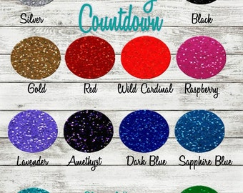 "Glitter permanent adhesive vinyl 12"" X 12"" sheets variety pack"