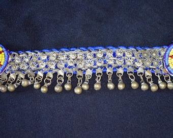 Vintage Kuchi Anklet Ankle Bracelet Bells Beaded Medallions Hippie Boho Gypsy Tribal Uber Kuchi®