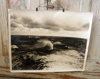 Vintage Official U.S. Navy Photograph Military Photograph Vintage Black and White Seascape Photograph from The Eclectic Interior