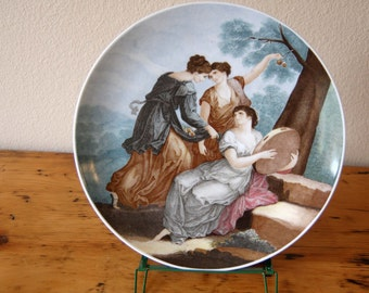 Vintage Bareuther Bavaria Germany Franceso Bartolozzi Seasons Plate Summer Bareuther Waldsassen Plate from The Eclectic Interior