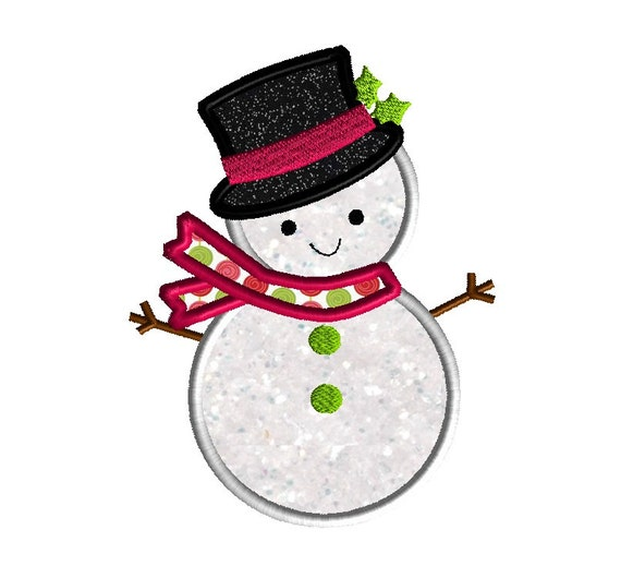 Items similar to snowman iii applique machine embroidery