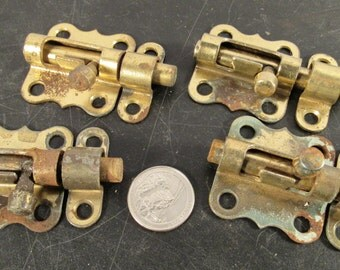 Set 4 vintage slide locks