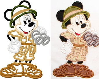 Mouse Safari embroidery applique design instant download