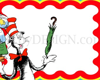 DIY Printable Cat in the Hat 5x7 Card