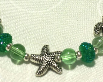 Nautical Starfish Turtle Anklet