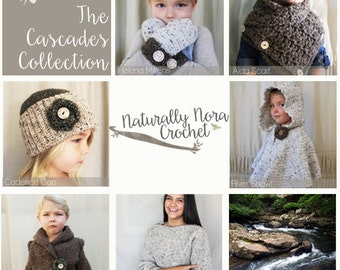 Instant Download 6 Pattern e-book-The Cascades Collection