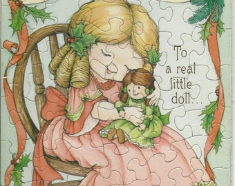 Late 1960s / Early 1970s Hallmark Christmas Puzzle Card - UNUSED - Christmas Card - New in Package - Original Packaging - NOS - Holiday Card