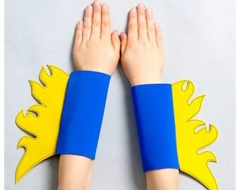 superhero flame cuffs