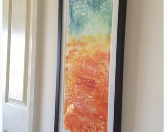 Monotype Print Artwork - Hand pulled Print - Contemporary- Original One of Kind Artwork by Kylie Fogarty Australian Artist