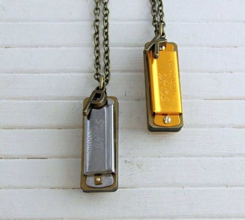 Harmonica Necklace .. Musical Necklace Music Lover Gift