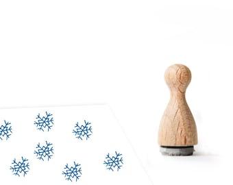 Ministempel Schneeflocke Weihnachten 12 mm