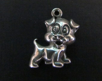 Vintage Silly Puppy Sterling Silver Pendant