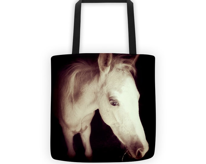 Newborn Colt Reusable Tote for Eco Shopping and School and Sundries for Horse Lovers