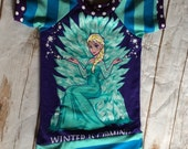 Upcycled frozen/Elsa Top/tunic size 2/3