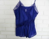 80's purple camisole size L not blue