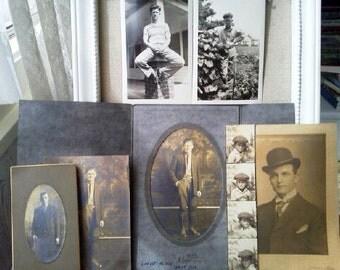 7 Vintage Photos of men 1910's -1940's