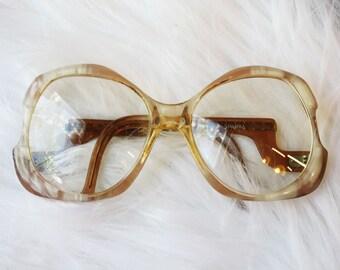 Vintage 1970s Diane Von Furstenberg Sparta Oversized Eyeglasses