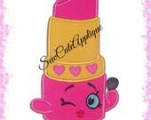 Shopkins Lippy Lips No Sew Applique Patch